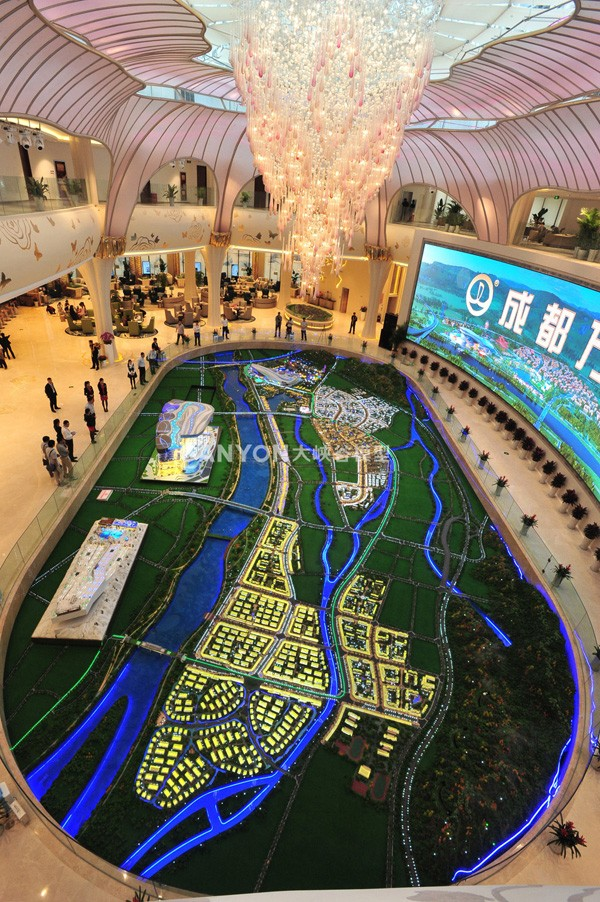 Smart Dynamic Sand-Table Models of Wanda City in Chengdu